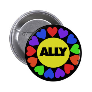 Gay Rights Ally Pinback Button