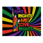 Gay rights are civil rights postcard