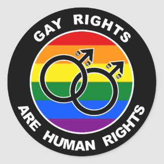 Gay Rights Are Human Rights Round Stickers