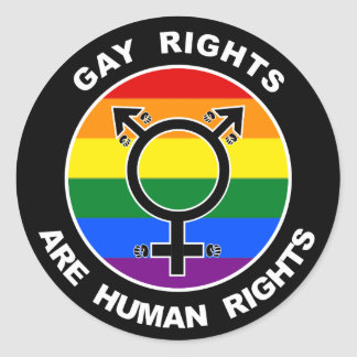 Gay Rights Are Human Rights Round Sticker