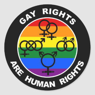 Gay Rights Are Human Rights Sticker