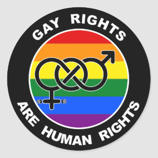 Gay Rights Are Human Rights Stickers