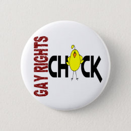 Gay Rights Chick 1 Pinback Button