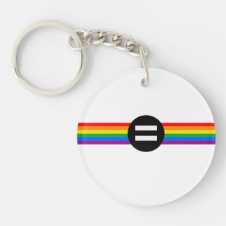 Gay Rights Flag Keychain