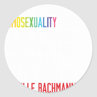 Gay Rights - Homosexuality is not a disease Classic Round Sticker