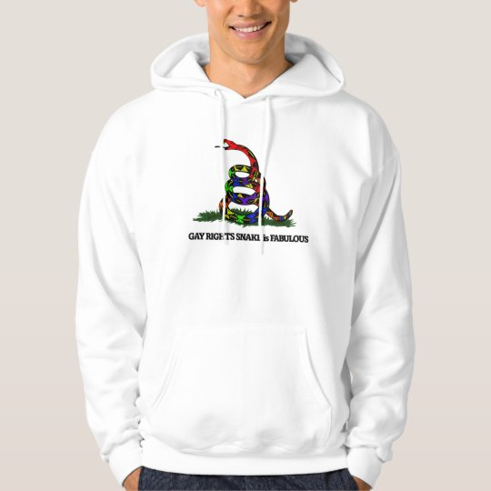 Gay Rights Snake Hoodie