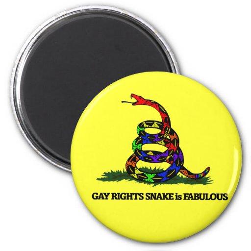 Gay Rights Snake Refrigerator Magnet