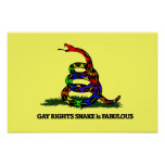 Gay Rights Snake Poster
