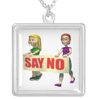 Gay Rights Square Pendant Necklace