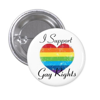 gay rights support 1 inch round button