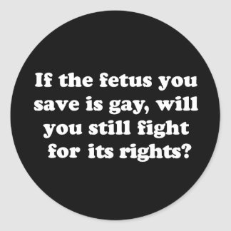 Gay Rights T-shirt Round Stickers
