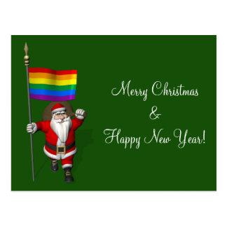 Gay Santa Claus Supports Equal Rights Postcard
