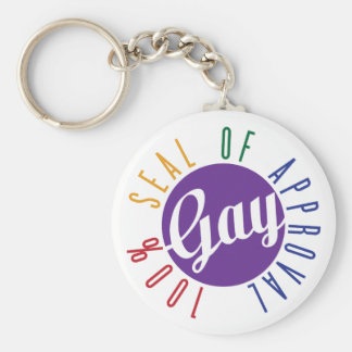 Gay Seal of Approval Keychain