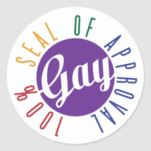 Gay Seal of Approval Sticker