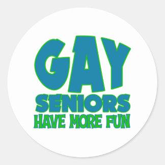 Gay Senior Gift Classic Round Sticker