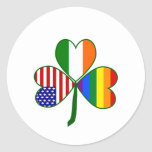 Gay Shamrock Classic Round Sticker
