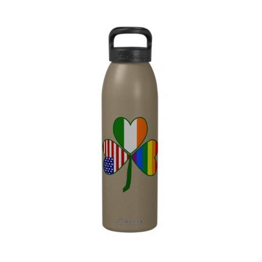 Gay Shamrock Drinking Bottles