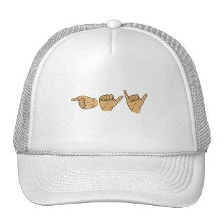 Gay Sign Language Mesh Hats
