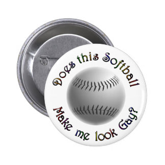 Gay Softball 2 Inch Round Button