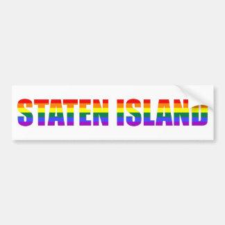 Gay Staten Island bumpersticker Bumper Sticker