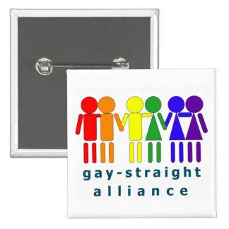 Gay Straight Aliiance Pinback Button