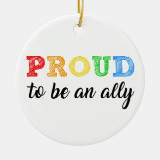 Gay Straight Alliance Ally Ceramic Ornament