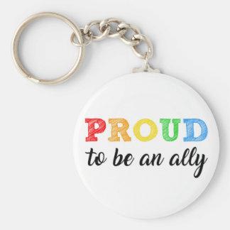 Gay Straight Alliance Ally Keychain