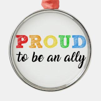 Gay Straight Alliance Ally Metal Ornament