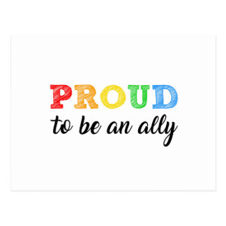 Gay Straight Alliance Ally Postcard