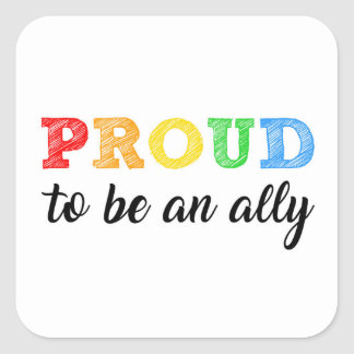 Gay Straight Alliance Ally Square Sticker