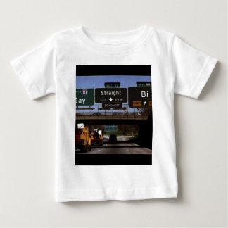 Gay/Straight/Bi Road Signs T-shirt