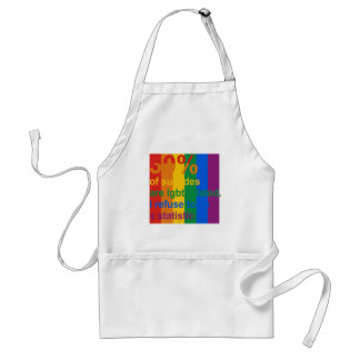 Gay Suicide - I refuse to be a statistic Adult Apron