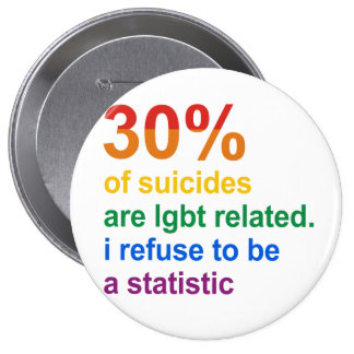 Gay Suicide - I refuse to be a statistic Pins