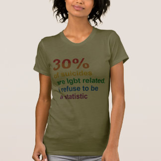 Gay Suicide - I refuse to be a statistic Tee Shirt