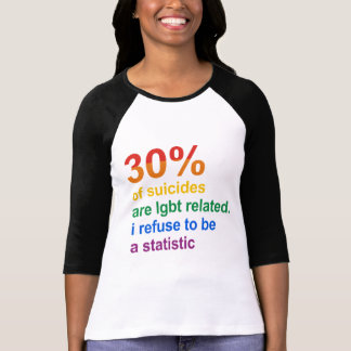 Gay Suicide - I refuse to be a statistic Tshirt