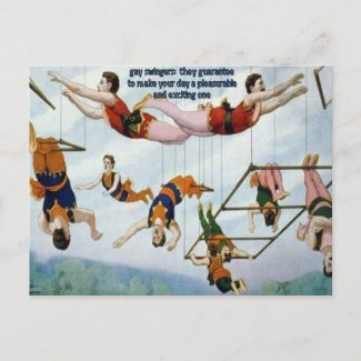 Gay Swingers postcard