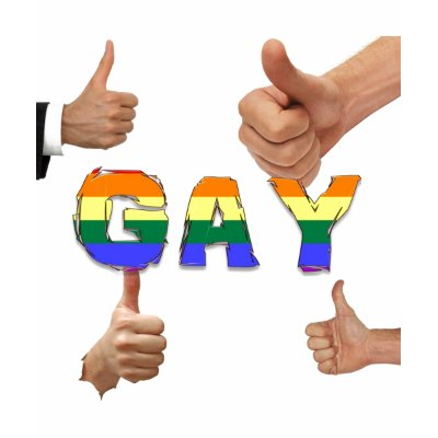 Gay Thumbs Up Shirt by markthaler. 2011 by Mark Thaler