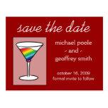 Gay-tini | Save the Date Postcard