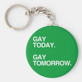 GAY TODAY. GAY TOMORROW. KEY CHAINS