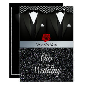 Gay Tuxedo Wedding Invitation