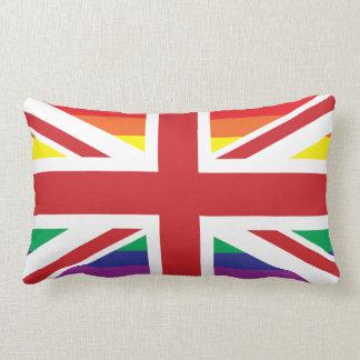 GAY UK (BRITISH FLAG) Throw Pillow Lumbar