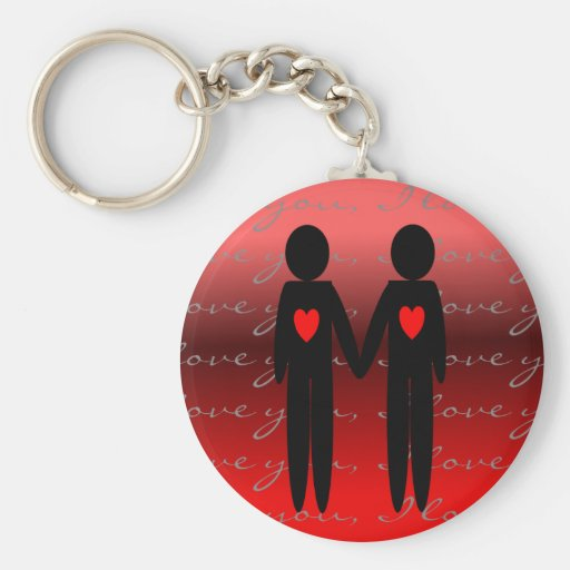 Gay Valentine Cards and Gifts Basic Round Button Keychain