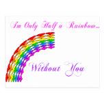 Gay Valentine Half Rainbow right Postcard