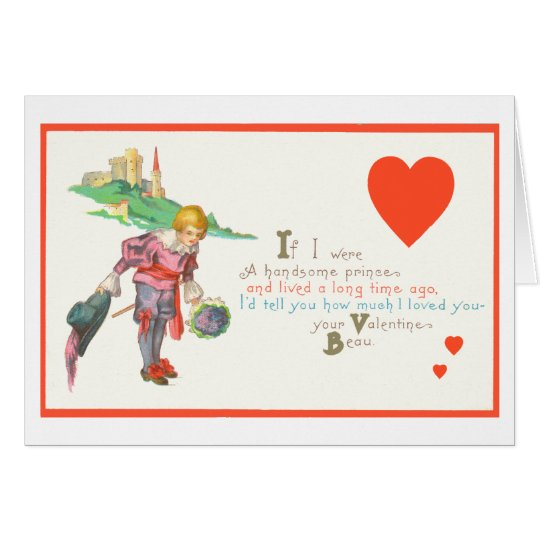 Gay Valentine Prince Card
