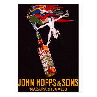 Gay Vintage Liquor Ad Mercury Rainbow Postcard