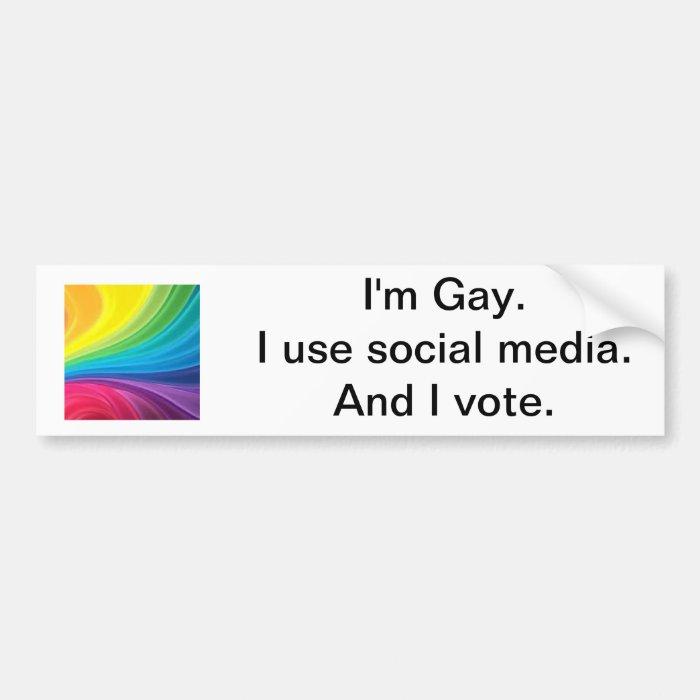 Gay Voter Bumper Sticker