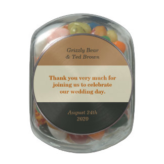 Gay Wedding Bear Grooms Jelly Belly Jar Favors Jelly Belly Candy Jars