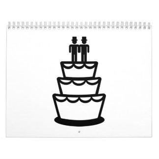 Gay wedding cake calendar
