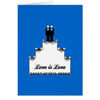 GAY WEDDING CAKE LOVE -.png Card
