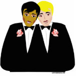 "Gay Wedding Cake Topper Statuette<br><div class=""desc"">Gay Wedding Cake Toppers for two grooms getting married. Unique gay groom cake toppers for their gay marriage and wedding reception celebration.</div>"